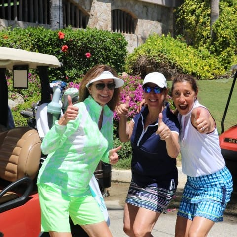 Women on Course Women's Golf Having Fun