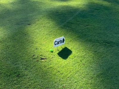 Cart Sign for Golf Course Etiquette
