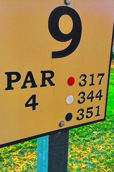 Colored Tee Box Distances