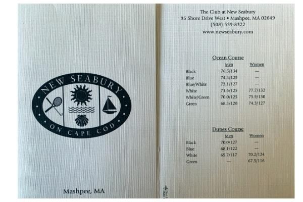 Slope and Rating at Club of New Seabury