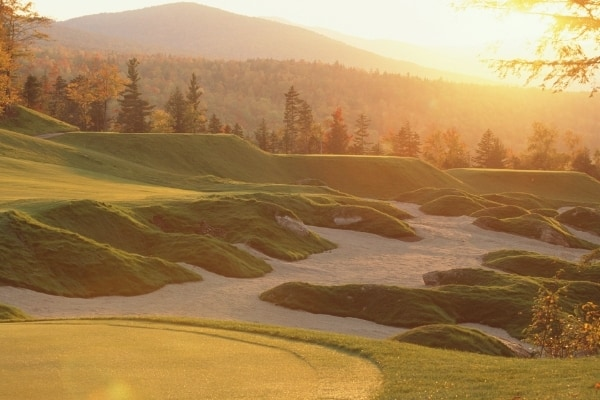 Sunday River Golf at Sunset